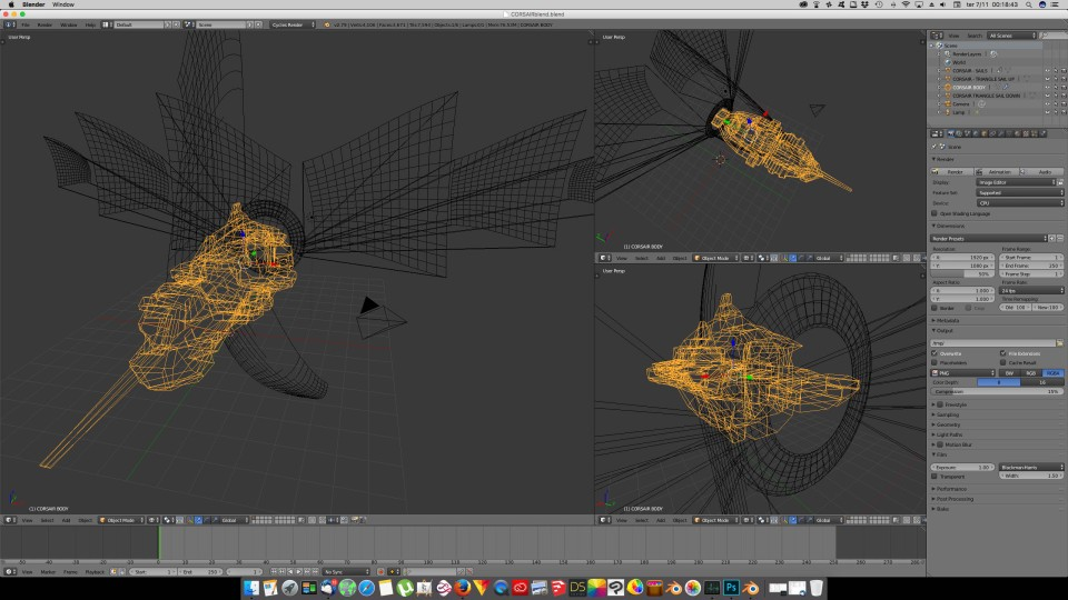 3D Blender - Corsair 01