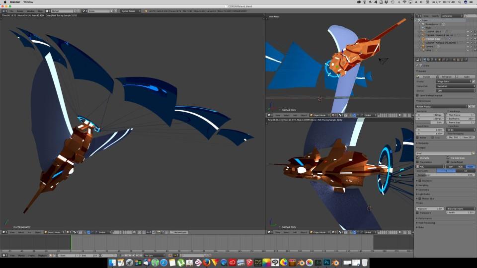 3D Blender - Corsair 02