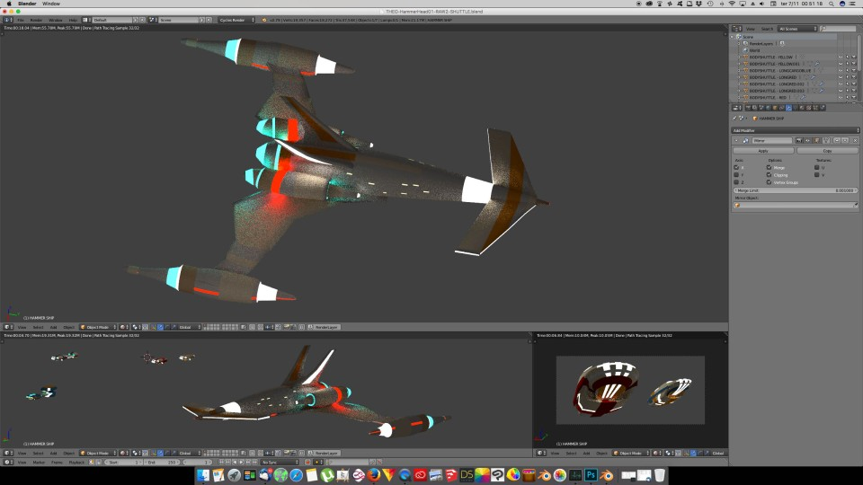 3D Blender - HammerShip