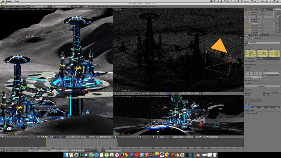 3D Blender - Luna 02