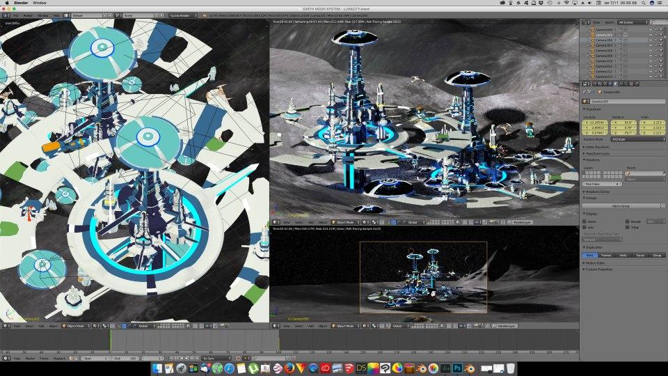 3D Blender - Luna 03