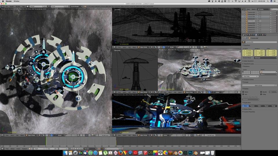 3D Blender - Luna 04
