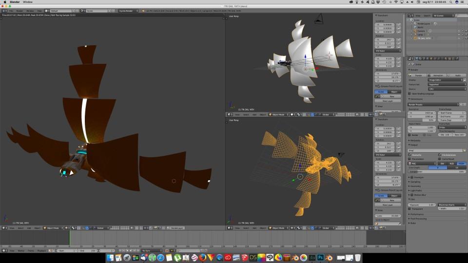 3D Blender - Trisail 02