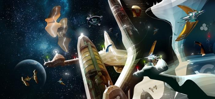 LIGHT-YEARS CONCEPTART - SpaceCity 01