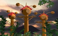 Digital_art_3d_studio_village_fairytale_scenery_childrenbook_illustration
