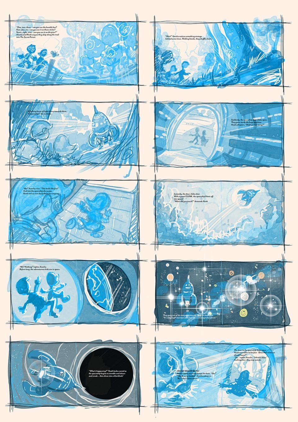 1500xThe Hidden Spaceship STORYBOARD 1 - Spreads 01-10 TEXT